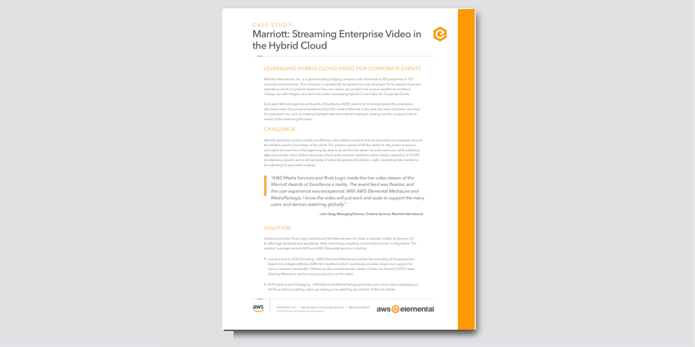 Crafter Software - Marriott: Streaming Enterprise Video in the Hybrid