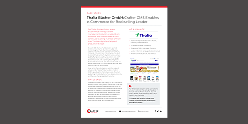 Thalia Bücher GmbH: Crafter CMS Enables e-Commerce for Bookselling Leader